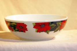 "Gibson Charming Poinsettia 6"" Cereal Bowl - $4.84"