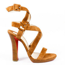 Christian Louboutin Strappy Suede Sandals SZ 38 - $9.625,70 MXN