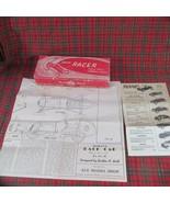 ca 1945 Unmade Wooden Midget Racer, Ace Model Shop, Pasadena, Complete w... - $54.99