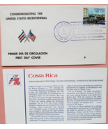 FDC Commemorating the United States Bicentennial Spirit of 76: Costa Rica   - $2.95