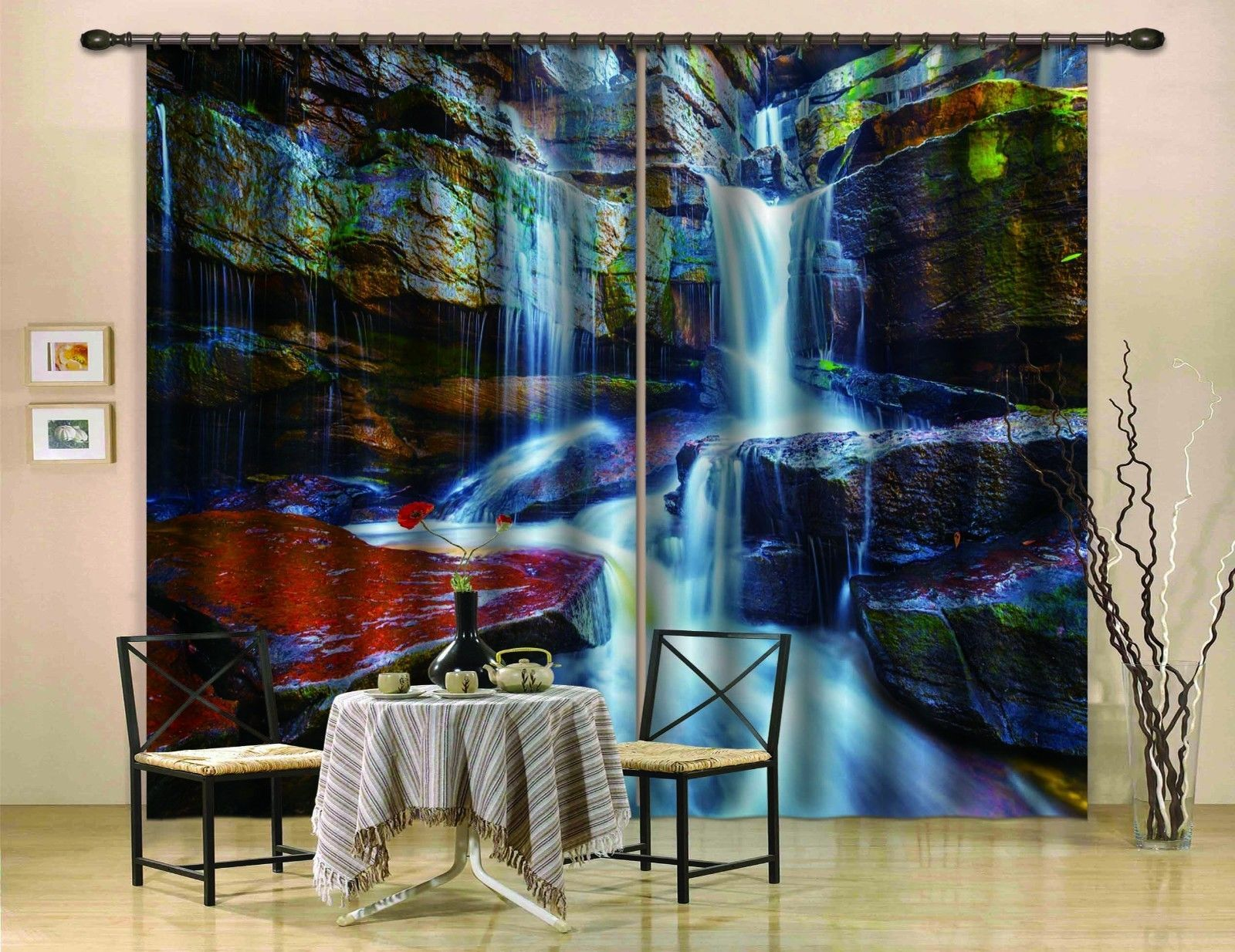 Primary image for 3D Stone River0391 Blockout Photo Curtain Print Curtains Drapes Fabric Window UK