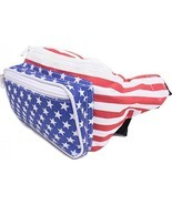 SoJourner Bags Fanny Pack - USA American Flag Stars And Stripes (Red, Wh... - £36.21 GBP
