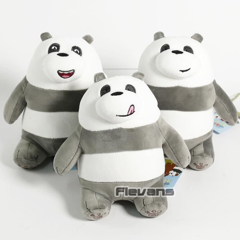 Cartoon We Bare Bears Grizzly Panda Ice Bear Koala Nom Nom Kawaii Plush Toys Sof image 5