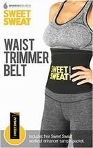 Sweet Sweat Premium Waist Trimmer Belt One Size Fits All Free Workout En... - $44.99