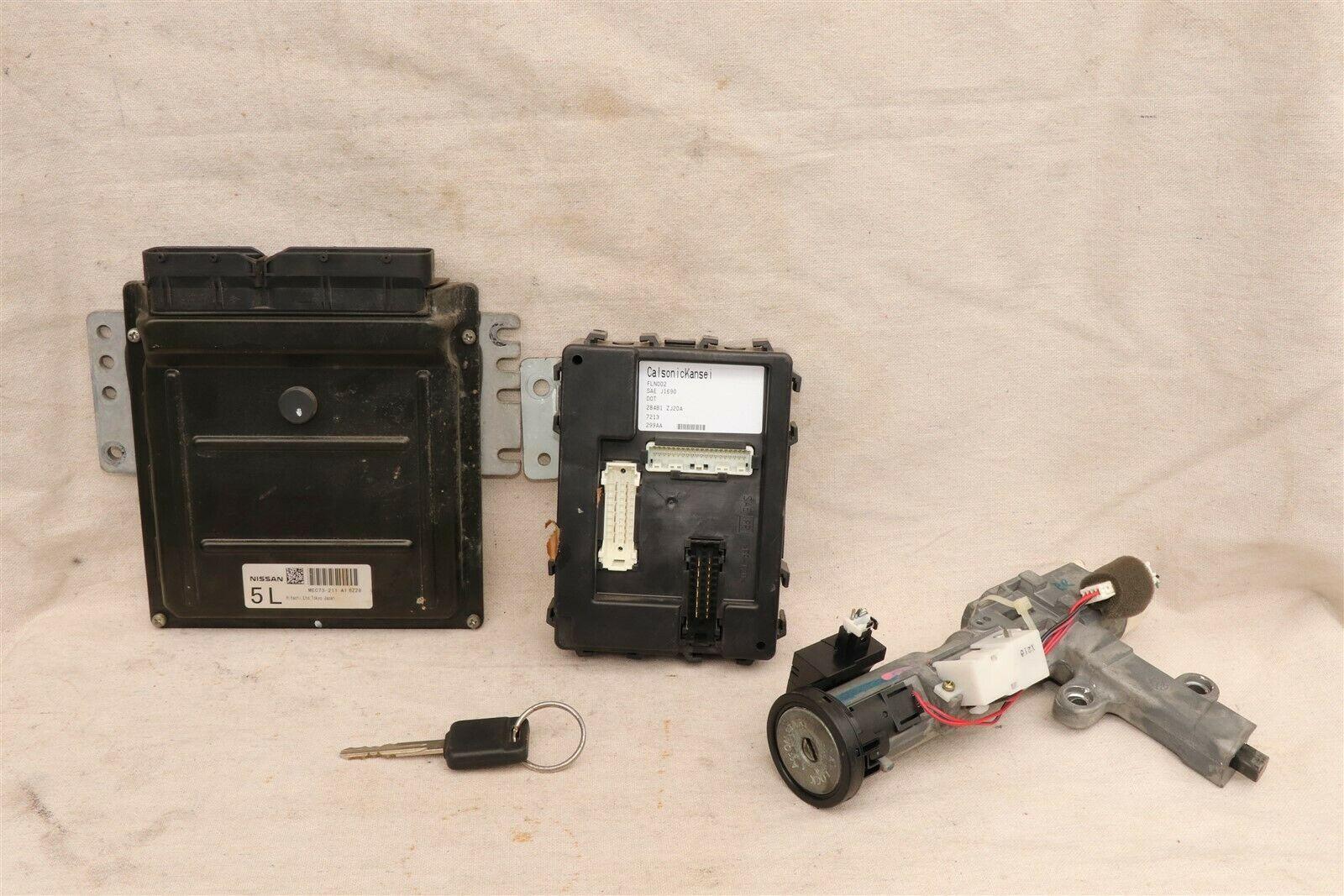 2007 Nissan Titan 4x2 ECU ECM Computer BCM Ignition Switch W/ Key MEC74-531-A1