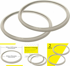 10 Inch Fagor Pressure Cooker Replacement Gasket (Pack of 2) - Fits Many 10 - $15.84