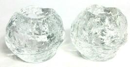 2 Kosta Boda Swedish Snowball Candle Tealight Scandinavian Art Glass Holder - $42.31