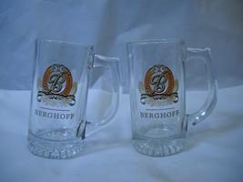 Set of 2 BERGHOFF Glass MUGS from BUDWEISER - $19.79