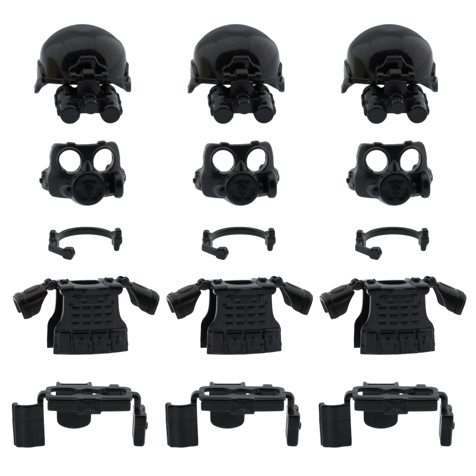 Custom swat minifigure police army armor compatible for lego set accessories