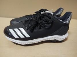 Men's Adidas Icon Bounce TPU Molded Baseball Cleat Black/White SZ 9 NEW AQ0154 - $56.05