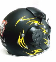 Masei 610 Meikai Hades Matt Black Yellow Motorcycle Helmet image 3