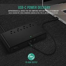 USB C Surge Protector with Power Delivery, Nekteck Power Strip Pad Desktop Charg image 4