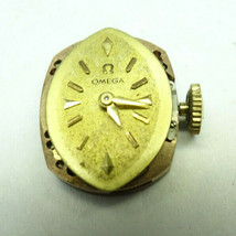 VINTAGE LADIES OMEGA 483 WATCH MOVEMENT AND DIAL ONLY RUNS FOR RESTORATIONS - $114.89