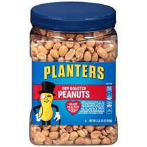 Planters Dry Roasted Peanuts, 34.5 oz Jars Pack of 3 - $24.77