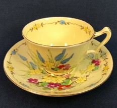 Vintage Crown Staffordshire Cup & Saucer Set F15350 - $24.95