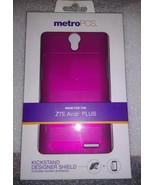 ZTE Avid PLUS Metro PCS - KICKSTAND Designer Shield w Screen Protector, ... - $7.99