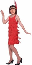 1920 Dresses For Kids 20 Flapper Child Costume Red Dress Girls Headband ... - $29.99