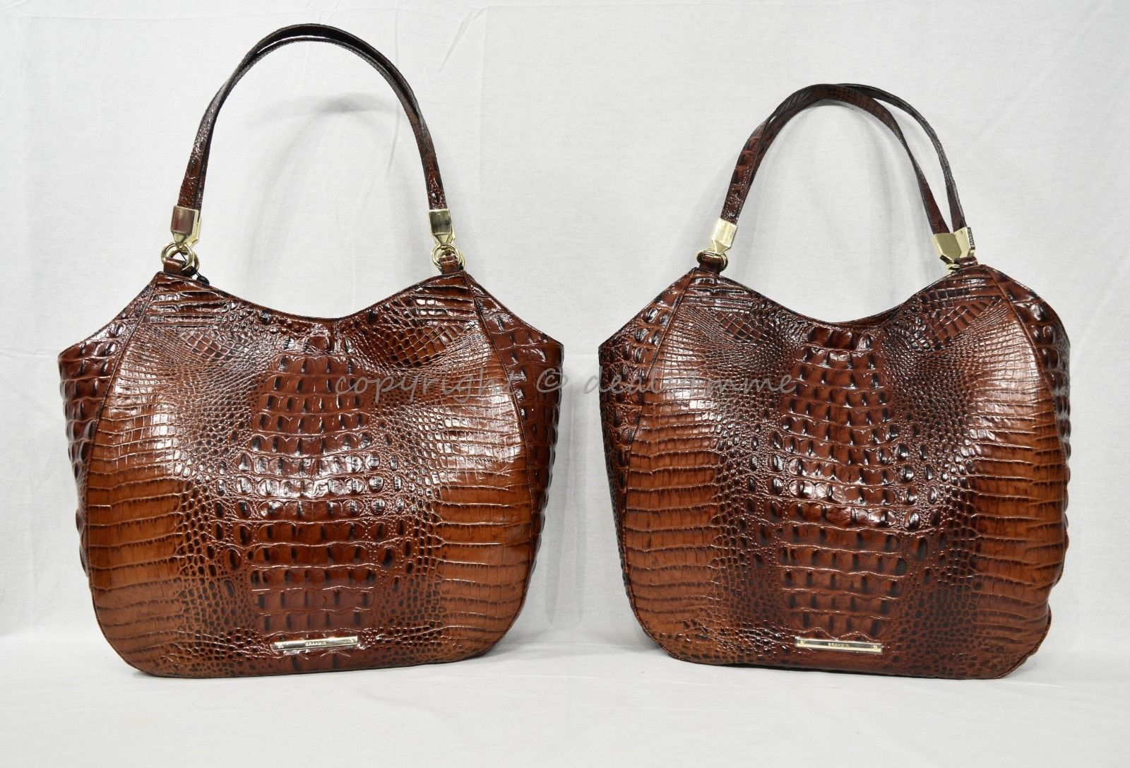 NWT Brahmin Thelma Tote / Shoulder Bag/Tote in Pecan Melbourne Embossed Leather image 9
