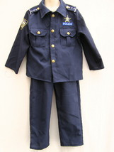 Halloween Kids Police Costume Set 6 Pieces Dress Up America Size Small 4 to 6 - $19.55