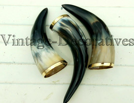 Horn Set of 3 Designer  Mug / Glass Viking Drinking Horn Mug Cup Beer Wine  - $12.06