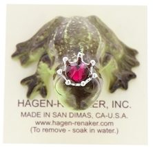 Hagen-Renaker Miniature Frog Prince Kissing Birthstone 01 January Garnet image 5