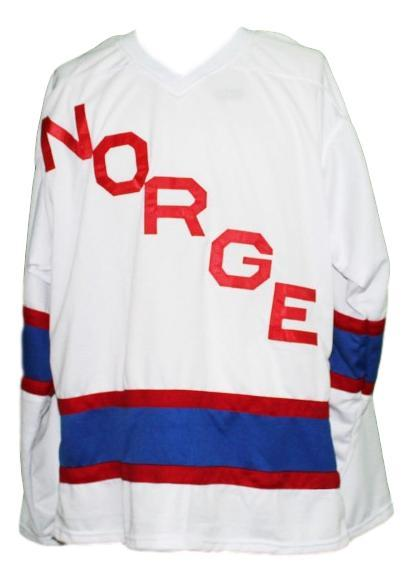 Team norway new men hockey jersey white any size   1