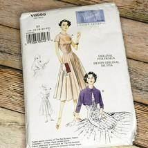 Vogue Vintage Pattern V8999 Dress Bolero Original 1954 Design Size E5 14-22 - $19.80