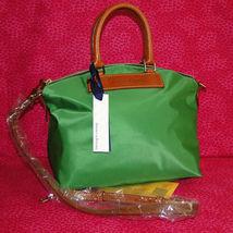 Dooney & Bourke Nylon Green Satchel Handbag NWT image 9