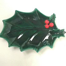 Vintage Lefton Holly Berry Dish Japan - $22.77