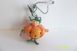 Krinkles Mini Ornament Patience Brewster Trick or Treat Little Pumpkin Man - £10.06 GBP