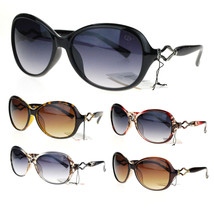 Womens Designer Metal Ribbon Jewel Hinge Oval Round Butterfly Sunglasses - £7.13 GBP