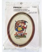 """Paragon Needlecraft Exquisite Hummel Stitchery """"Umbrella Kids After  - $45.99"""