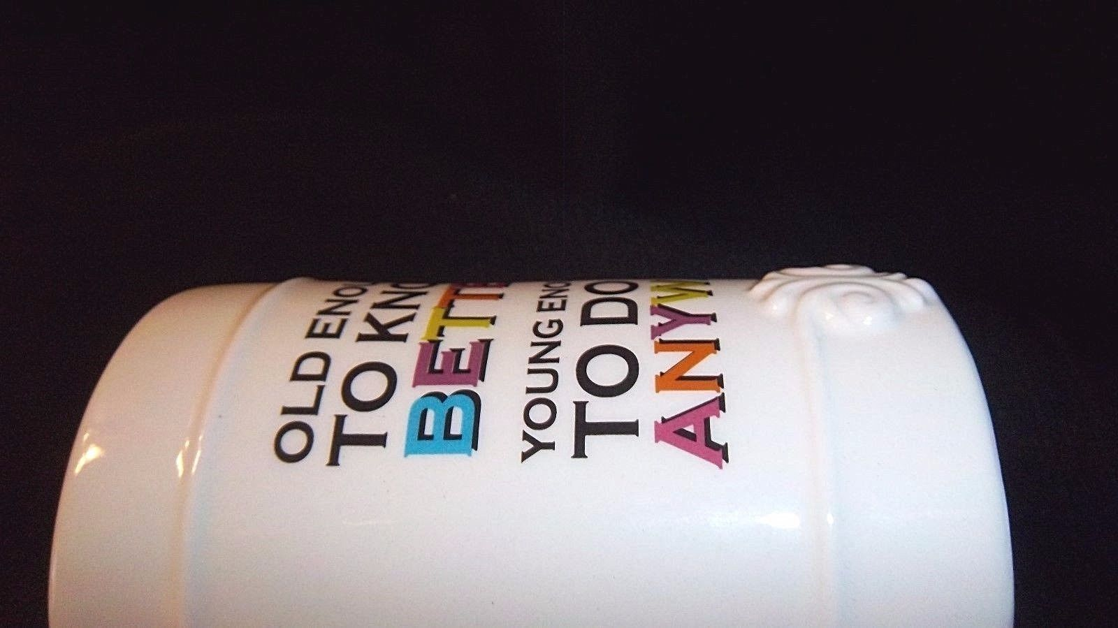 Old Enough to Know Better Mug Senior Birthday Humor Aging GRASSLANDS ROAD NEW