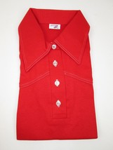 RARE NEW Vintage 70's Ladies Levis Big E Polo Style Shirt Pull Over Top L RED  - $60.53