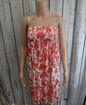 CS Women's Small Juicy Couture Smocked Strapless Floral Modal Dress in P... - $13.99