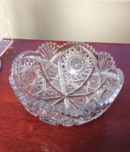 ABP Bowl Pressed Cut Glass 8″ Wide - $75.00
