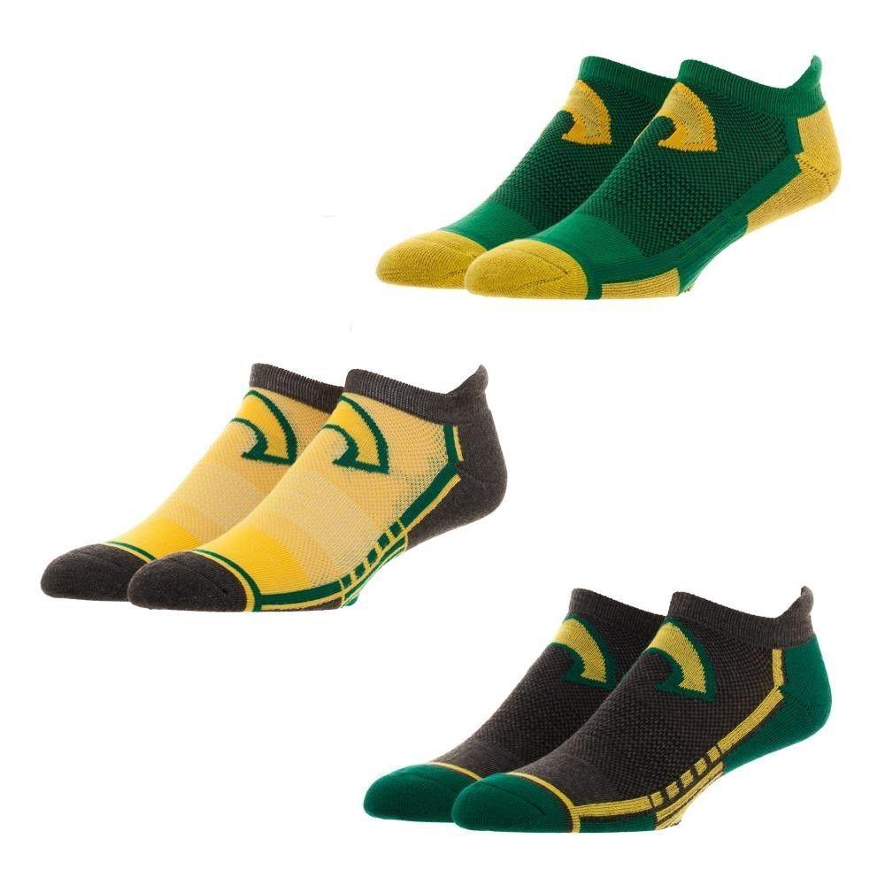 Aquaman DC Comics 3 Pack Athletic Active Ankle Socks Nwt