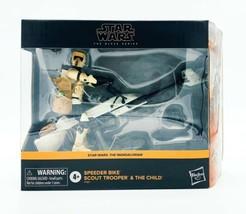 Star Wars Black Series Speeder Bike Scout Trooper & The Child - The Mand... - $102.33