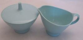 Creamer Set Melmac Melamine Sugar Bowl & Creamer Lid Set Fostoria Baby B... - $16.82