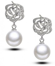IXIQI Pearl Stud Earrings Studs Gifts Present For Christmas Women Girls ... - $13.86