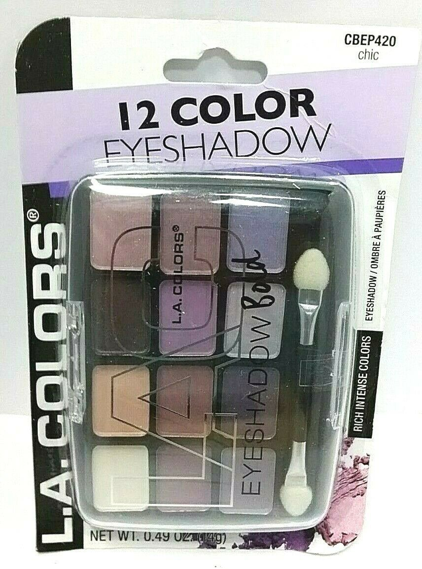 Primary image for Eyeshadow BOLD L.A Colors 12 color Shade & Highlight Eye Shadow Chic #CBEP420