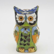 Vintage Owl Trinket Box Ring Holder Reversible Head Body - $34.64