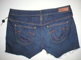 New Womens True Religion NWT $188 Denim Jean Shorts Dark 24 Designer Kei... - $188.00