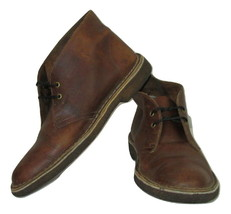 Clarks Boots Size 9.5 Original Desert Mens Brown Distressed Leather Crep... - £26.36 GBP