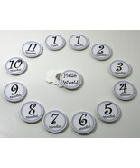 Monthly Milestone Marker 12 Month magnetic chip set - NEW!  For newborn ... - $18.00