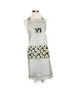 Country Style Apron Cow Daisies Striped One Size - $9.88