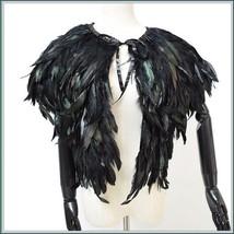 Norse Fertility Love Godess Freya's Traveling Cloak Of Raven Falcon Feat... - $89.95