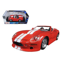 Shelby Series 1 Red with White Stripes 1/18 Diecast Model Car by Maisto ... - $46.47