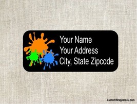 Paintball Return Address Labels Custom Personalized - $4.95