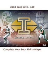 2018 Panini Illusions Football Card Base Set - Pick a Player - Complete ... - $0.98+
